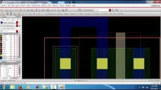 Layout of Inverter in Cadence Virtuoso,90 nm-Part1
