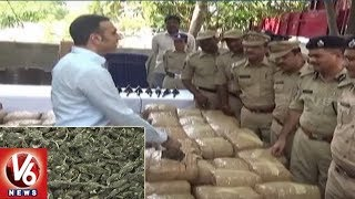 Excise And Enforcement Officers Seized 780 Kgs Ganja Near Ramoji Film City