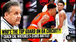 UK Coach Calipari Watches 5-Star Guard Battle! Jaden Springer vs Jalen Suggs UAA II KC Highlights!