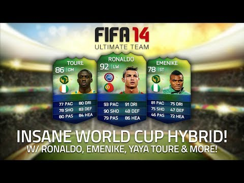 INSANE WORLD CUP HYBRID! w/ RONALDO. EMENIKE & YAYA TOURÉ!   FIFA 14 Ultimate Team