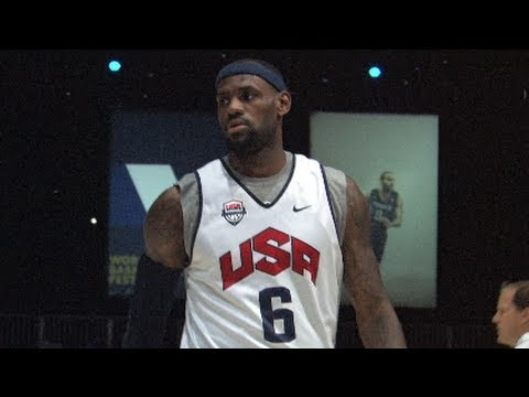 LeBron James USA Highlights - 2012 Men's Olympic Basketball Team - London 2012
