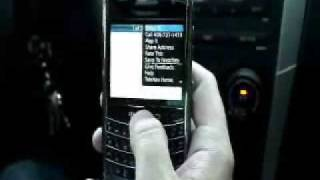 TeleNav GPS Navigator on the BlackBerry Tour (Verizon Wireless)