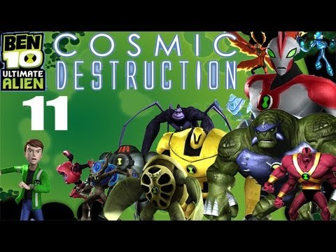 Lets Play Ben 10 Ultimate Alien: Cosmic Destruction #11 Base Infiltration