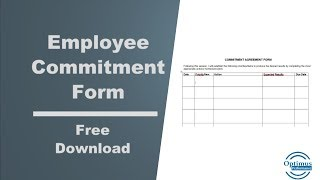 Employee Performance Commitment Form: Free Download