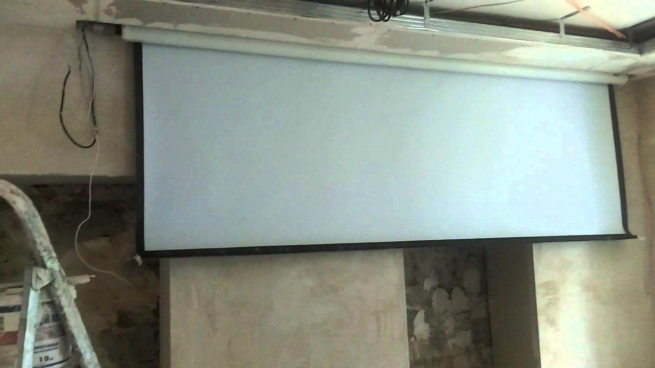 Как сделать экран с электроприводом