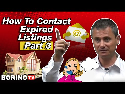 How to contact expired listings using mail - Live Workshop With Borino - Part 3