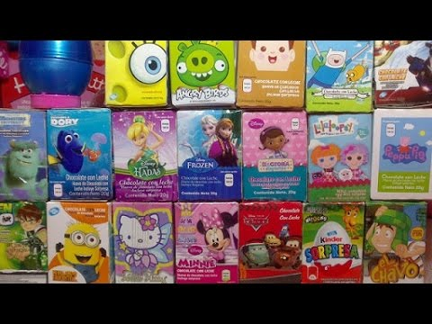 20 Surprise Eggs Kinder Surprise Cars 2 Thomas Spongebob Disney Pixiar
