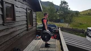 Mads Even 240kg Deadlift 2x2, preparing for Europes Strongest Man 2019 -80kg