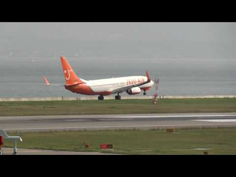Landing at Kansai International Airport RWY24L