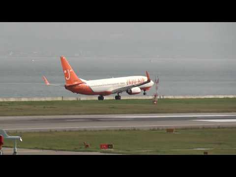 Landing at Kansai International Airport RWY24L