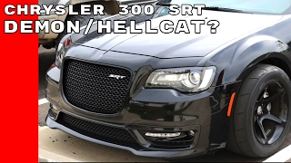 Widebody Chrysler 300 SRT With Dodge Demon Wheels Could Be New Hellcat