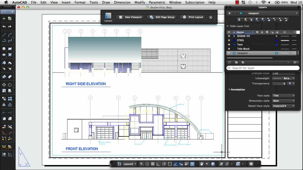 how to scale work to page layout in autocad