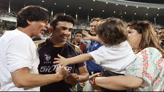 Shahrukh Khan With His Son Abram At IPL 8 - 2015