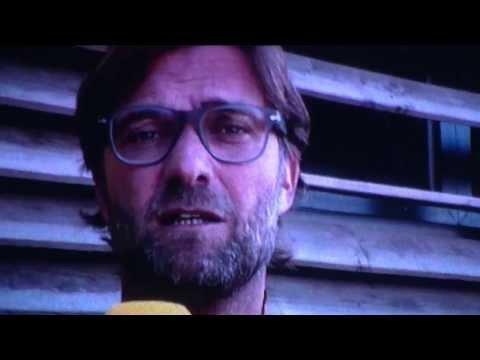 Ansprache von Jürgen Klopp an die Fans vor dem Spiel Borussia Dortmund gegen Eintracht Braunschweig