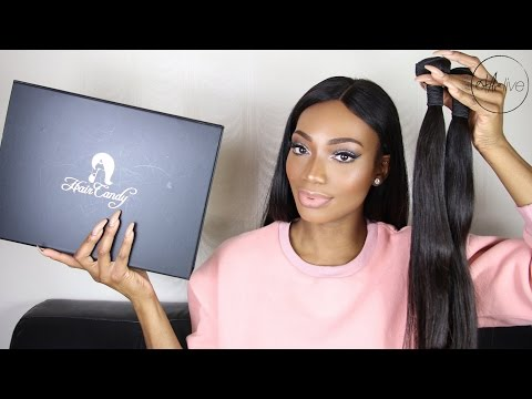 HAIR   HAIR CANDY MONGOLIAN STRAIGHT • UNBOXING & INITIAL REVIEW!