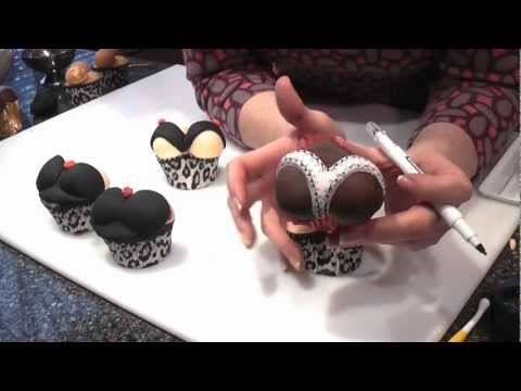 Valentines Heart Cupcakes (sexy Bums & Boobs) - Cake Craft World Video 6 video
