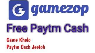 Gamezop Loot - Game Khelo Paytm Cash Jeetoh + Per Refer ₹4 (Instantly Paytm Cash)