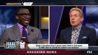 UNDISPUTED | Shannon reacts Jonathan Isaac's Magic jersey sales soar to 2nd after 'standing' gesture