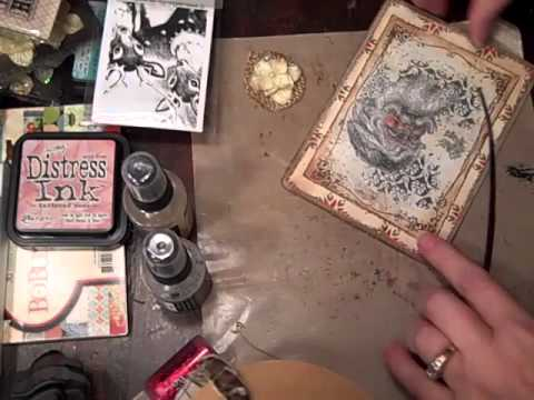 Making A Card Using LaBlanche Stamp And Tim Holtz Distress