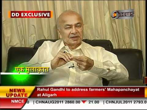 Manoj Tibrewal Aakash Interviewed Sushil Kumar Shinde for DD News's Ek Mulaqat (News Byte)