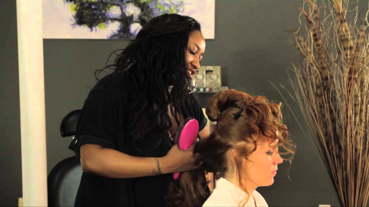 How to do saloon girl hair styles for long hair youtube for Salon western