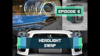 Evo X Headlight Replacement - Details, pics & more!!!