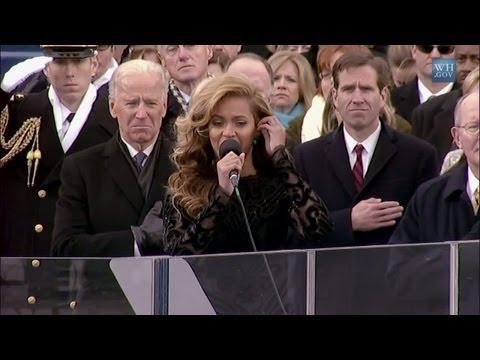 Beyonce Performs in Playback the National Anthem – 2013 Inauguration of Barack Obama