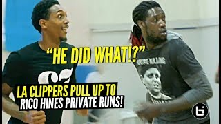 """Dont Be In Here Looking Sorry AF"" LA Clippers Squad SHOWED OUT at Rico Hines Private Runs!!"