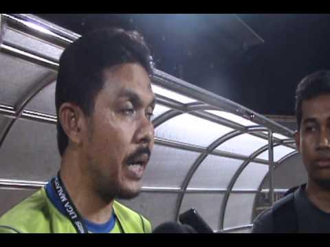 HKCtv | Kedah v Sabah 11.02.2012 | Post Match Interview | Hj. Radhi Mat Din dan Justin Ganai