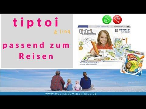 tiptoi oder ting - Kinderbücher und mehr zum Reisen // Produkttest