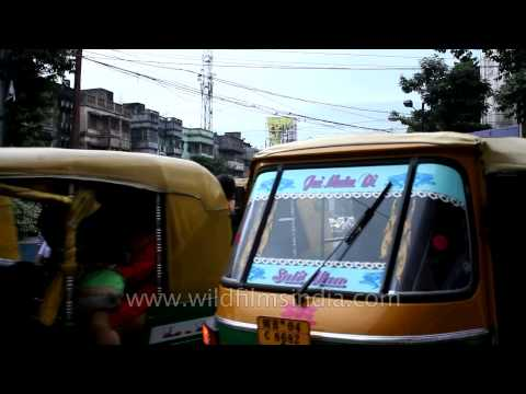 Auto-rickshaw one after the other: VIP market, Kolkata