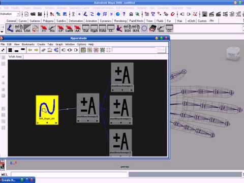 Maya Biped Rigging Free Video Tutorials Lesson-07 Finger Rigging, in Oriya language