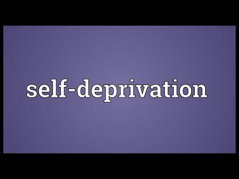 Header of self-deprivation