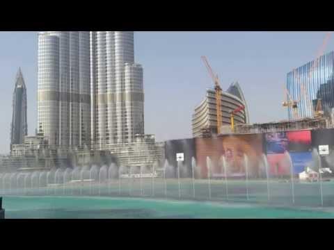 Ντουμπάι ταξίδι, Συντριβάνια με μουσική, Μπουρτζ Χαλίφα (Dubai Fountain)