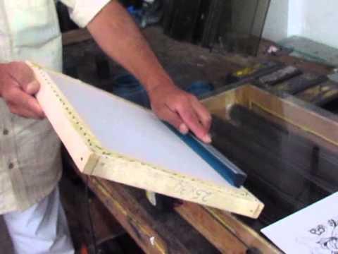 procesos de impresión, y estampados. SERIGRAFIA