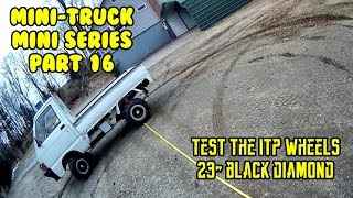 """Mini Truck ITP wheels, rims, 23"""" tires, turning radius, comments, HiJet Comedy series (Part 16)"""