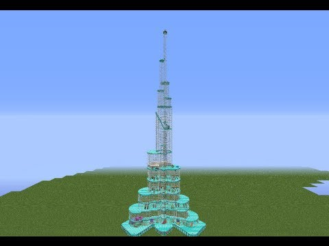 Minecraft Burj Khalifa, el edificio más alto del mundo + Descarga / Download [Megastructure]