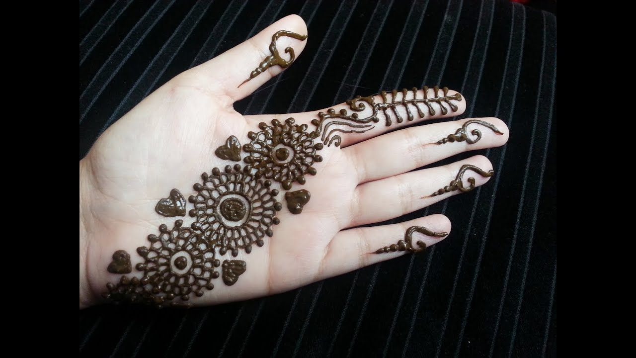 Simple Quick Mehndi Designs : Arabic henna strip simple pretty quick design