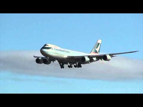 Cathay Pacific Cargo 747-8F [B-LJB] - Arrival at Sydney - 7 June 2014