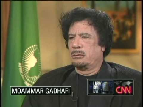 Moammar Gadhafi on Larry King 9/28/09 1 of 5