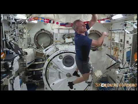 Nasa space video taking to astronaut. Nasa space science