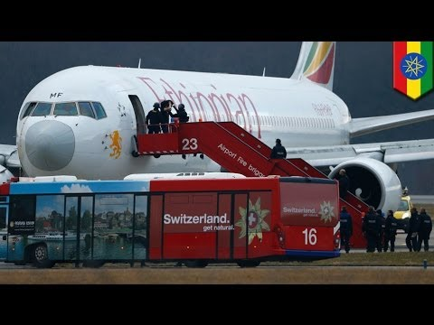Ethiopian Airlines flight hijacked by co-pilot lands in Geneva