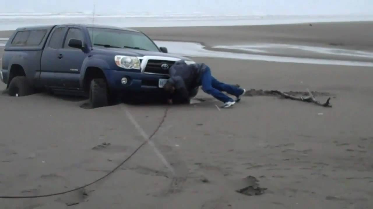 Toyota Tacoma Stuck On Beach Youtube