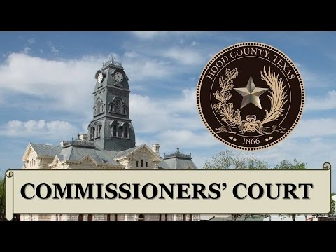 Hood County Commissioners' Court 8/25/2015