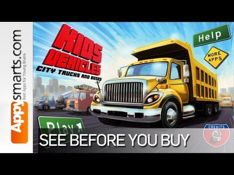 Kids Vehicles: City Trucks & Buses (dump truck, ambulance, fire truck, garbage truck & more)