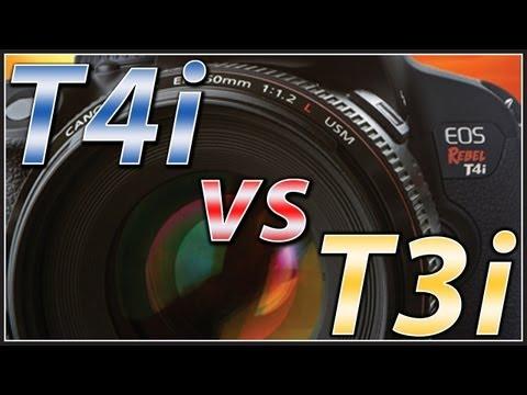 Canon T4i vs T3i   650D vs 600D   Camera Comparison Video Tutorial