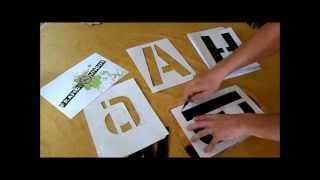 Réalise un alphabet en pochoir
