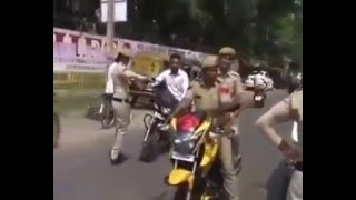 Indian Lady  Police funny videos haha