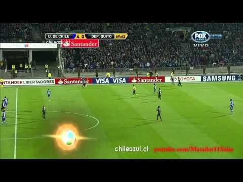 Universidad de Chile 6-0 Deportivo Quito HD Octavos de Final Partido de Vuelta Copa Libertadores 2012 Relatos Trovador del Gol.