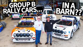 Ken Block Drives a Ford RS200 to Dinner + Group B Rally Car Heaven, in a BARN!